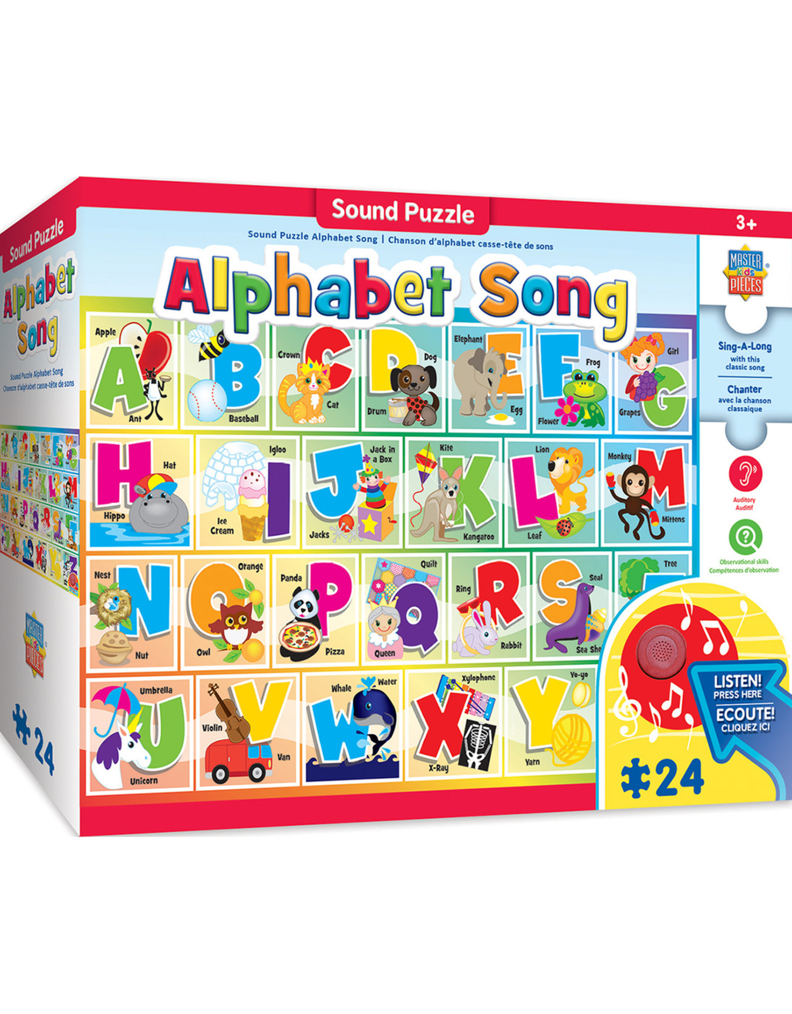 MASTER PIECES PUZZLE Alphabet Floor puzzle W/Sound 24pc