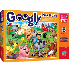 MASTER PIECES PUZZLE Farm Animals 48pc Googly Eyes