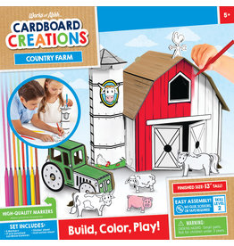 MASTER PIECES PUZZLE Farm Playset Cardboard buildable