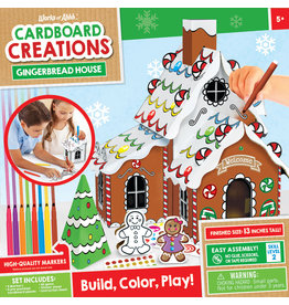 MASTER PIECES PUZZLE Gingerbread House Cardboard buildable