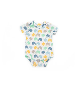 Elephant Moon Grow With Me' Onesie - Blue Elephant: 3-6 Months