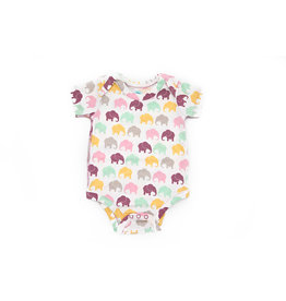 Elephant Moon Grow With Me' Onesie - Lavender Elephant: 0-3 Months