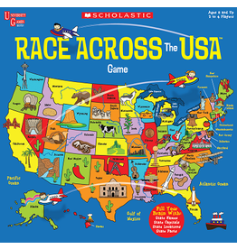 University Games Scholastic Race Across the USA Game
