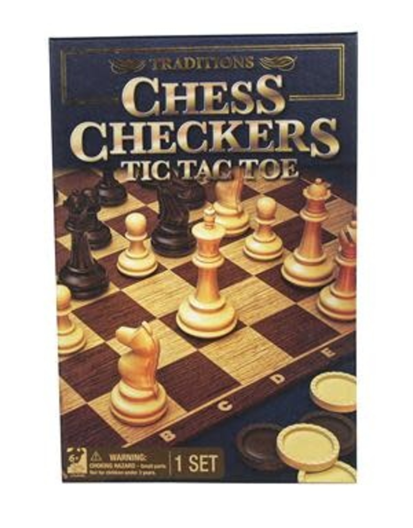 Gund/Spinmaster Traditions Chess, Checkers, and Tic Tac  Toe
