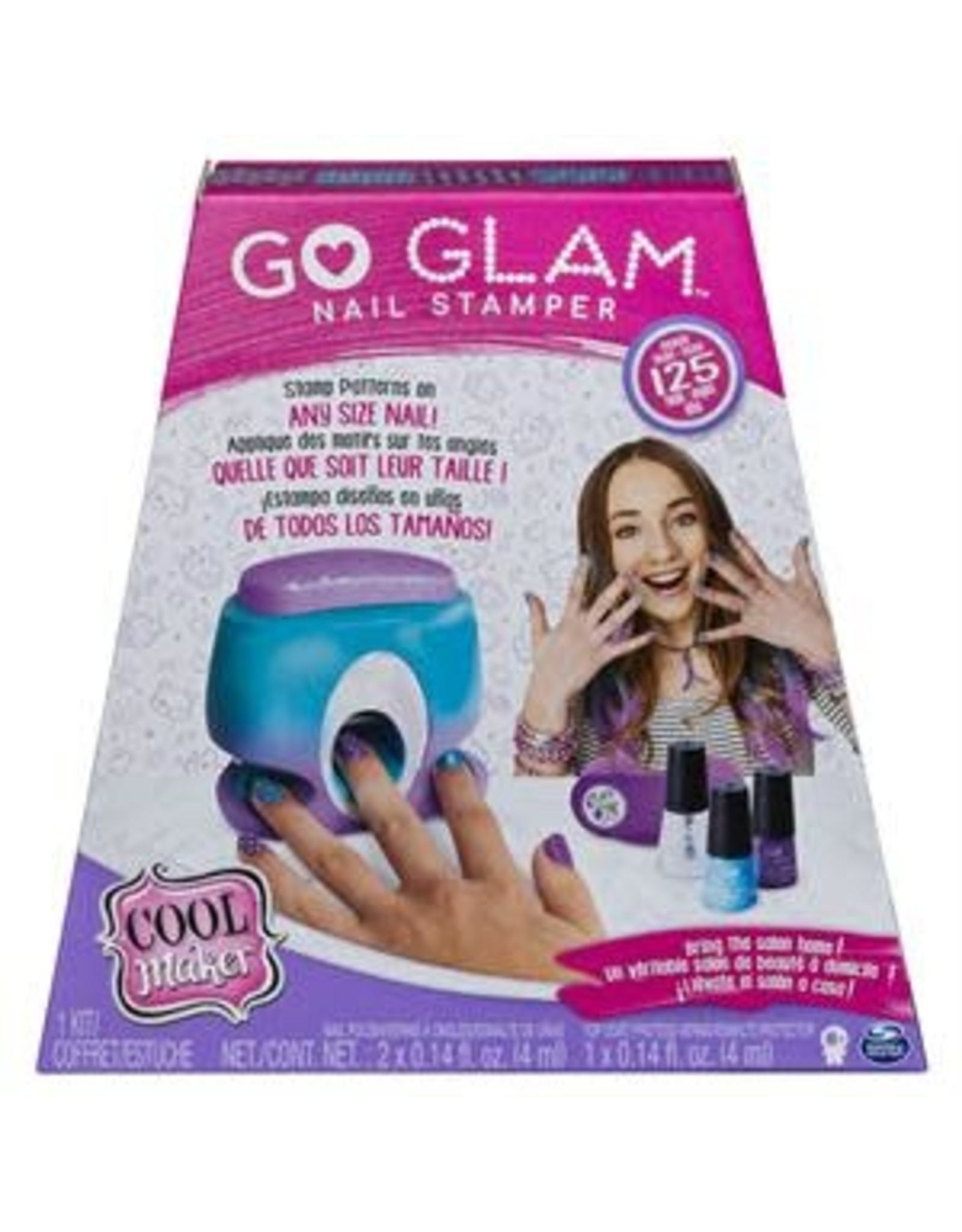Gund/Spinmaster Cool Maker, GO GLAM Nail Stamper  Studio