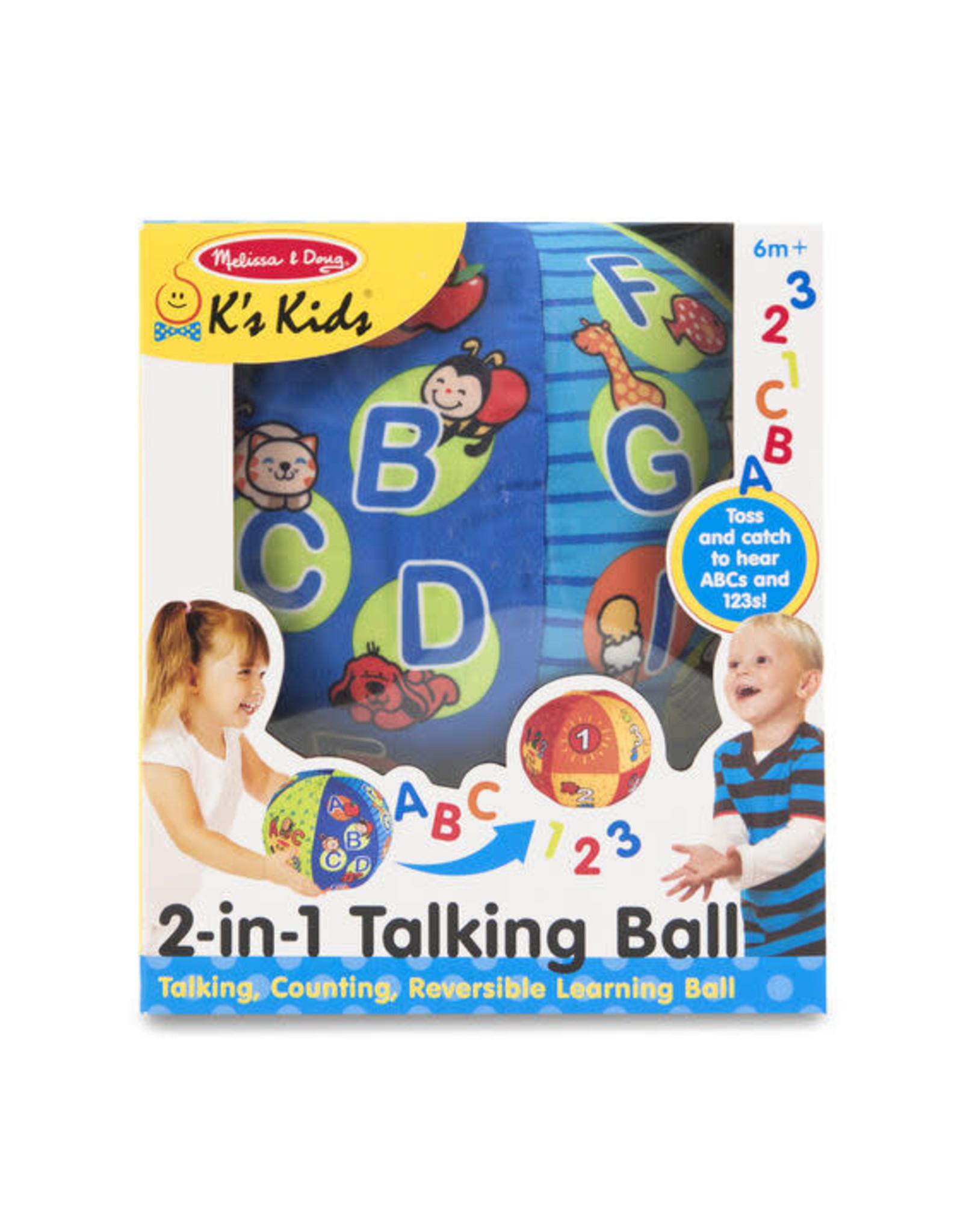 MELISSA & DOUG 2-in-1 Talking Ball