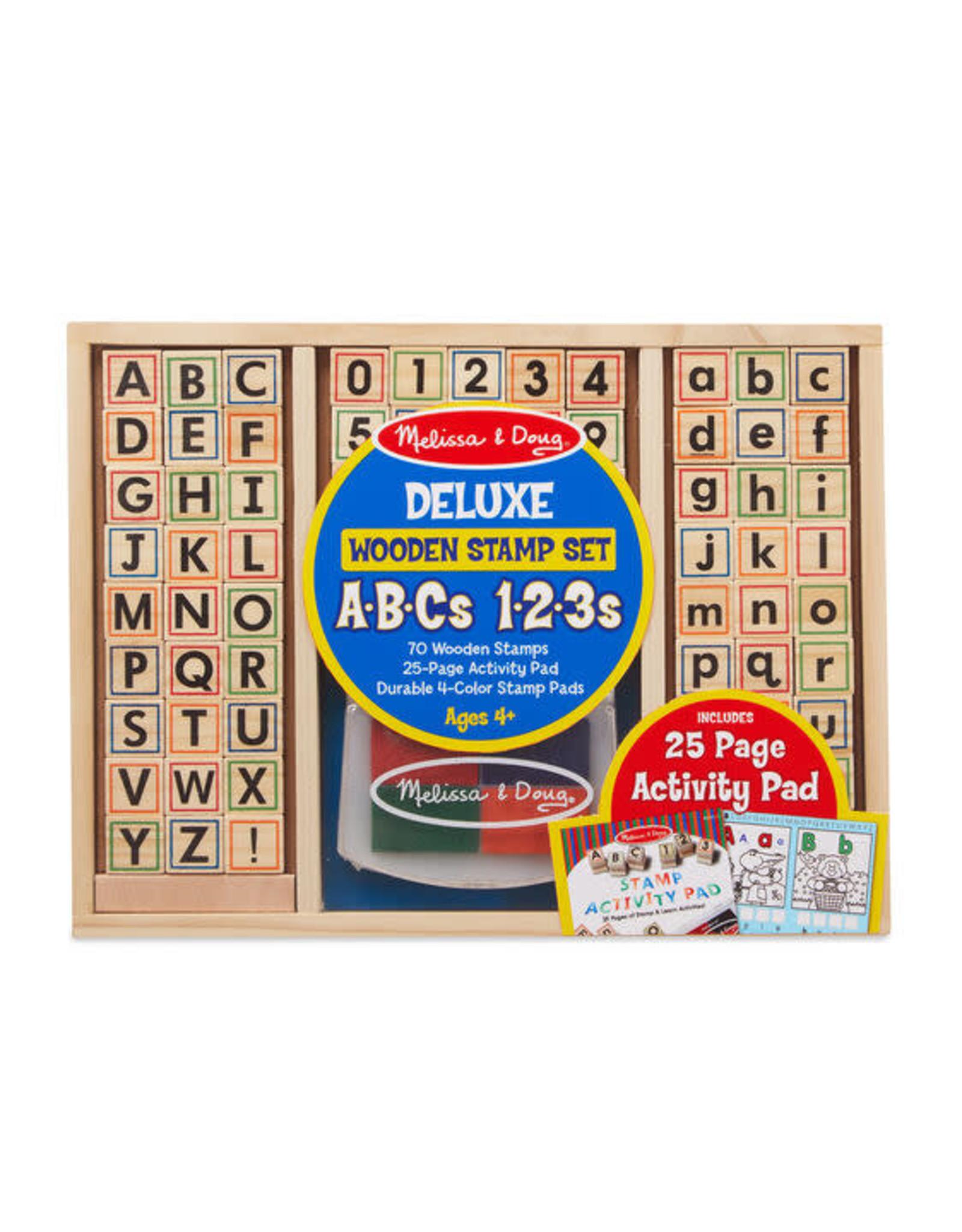 MELISSA & DOUG Wooden ABC STAMP SET