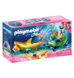 PLAYMOBIL U.S.A. King of the Sea with Shark Carriage