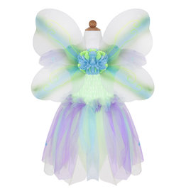 CREATIVE EDUCATION Butterfly Dress w/Wings & Wand, Green/Multi, Size 5-6