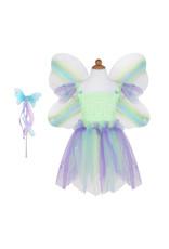 CREATIVE EDUCATION Butterfly Dress w/Wings & Wand, Green/Multi, Size 5-6