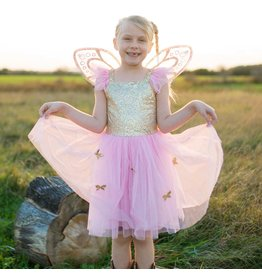 CREATIVE EDUCATION Gold Butterfly Dress w/ Wings, Size 4-6