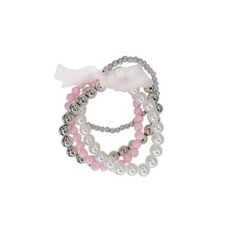 CREATIVE EDUCATION Pearly to Wed Bracelet 4 pc Set