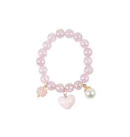 CREATIVE EDUCATION Pink Heart Bobble Bracelet