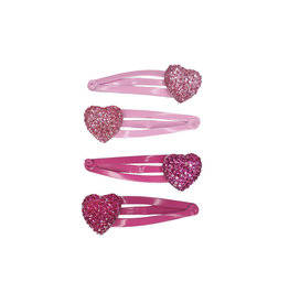 CREATIVE EDUCATION Sparkly My Heart Hair Clips (4pc set)