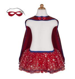 CREATIVE EDUCATION Superhero Tutu, Cape & Mask Set, Blue/Red, Size 4-7