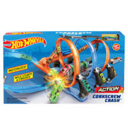 MATTEL HW: Corkscrew Crash Track Set