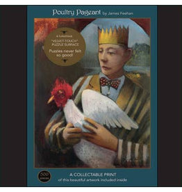 "Art & Fable Puzzle Company Poultry Pageant; 500-Piece ""Velvet-Touch"""