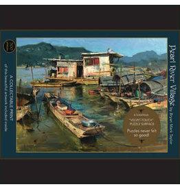 "Art & Fable Puzzle Company Pearl River Village; 500-Piece ""Velvet-Touch"""