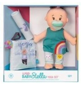 MANHATTAN TOY COMPANY Wee Baby Stella Yoga Set Peach with Brown Hair