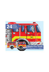 MELISSA & DOUG Giant Fire Truck Shaped Puzzle