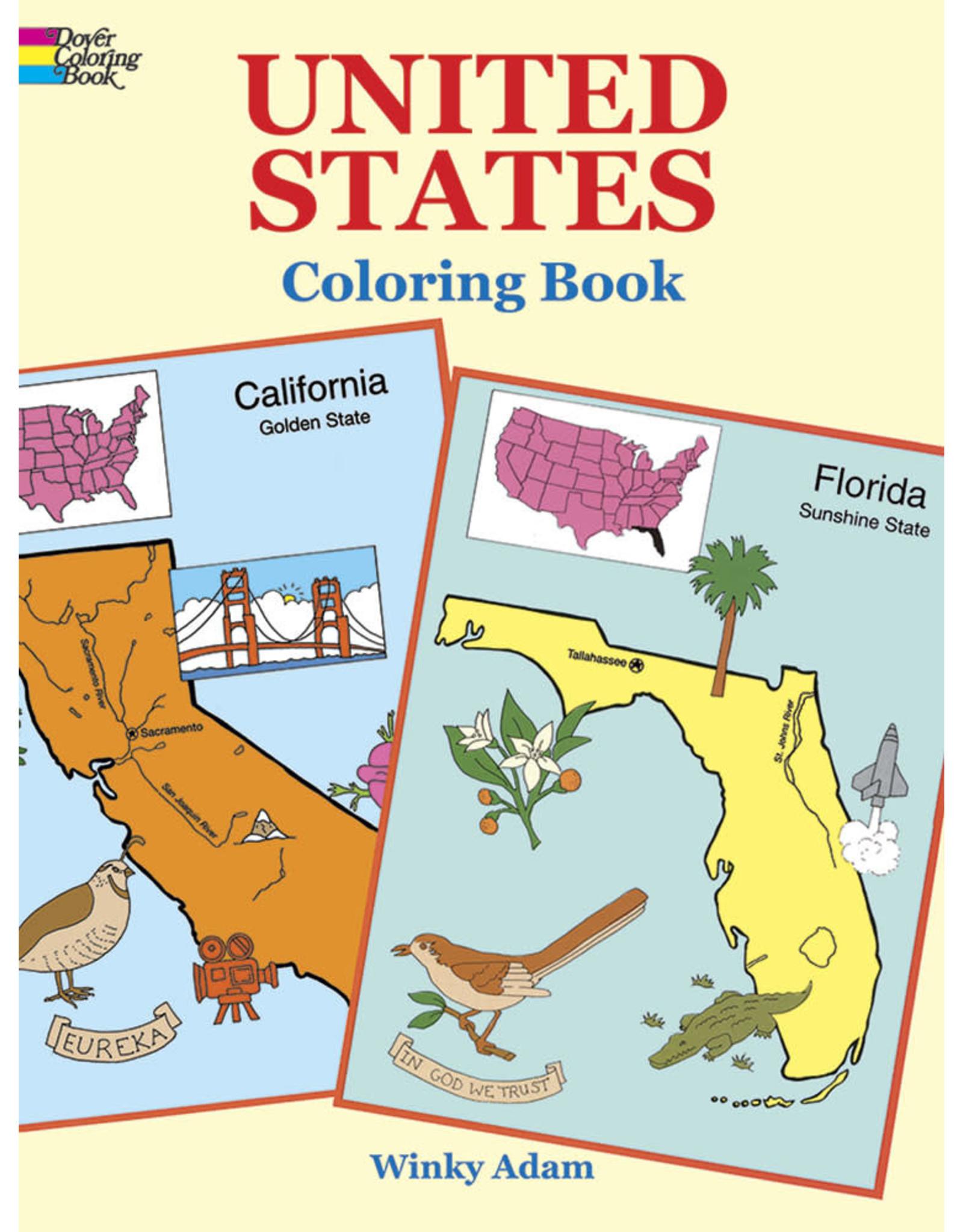 DOVER PUBLICATIONS INC Adam-United States Coloring Book