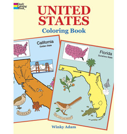DOVER PUBLICATIONS INC Adam-United States Coloring Book
