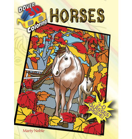 DOVER PUBLICATIONS INC Noble-3-D Coloring Book-Horses