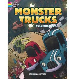DOVER PUBLICATIONS INC Cassettari - Monster Trucks Coloring Bk