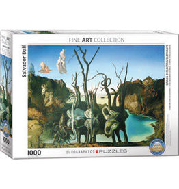 EUROGRAPHICS Swans Reflection Elephants by Salvador Dali
