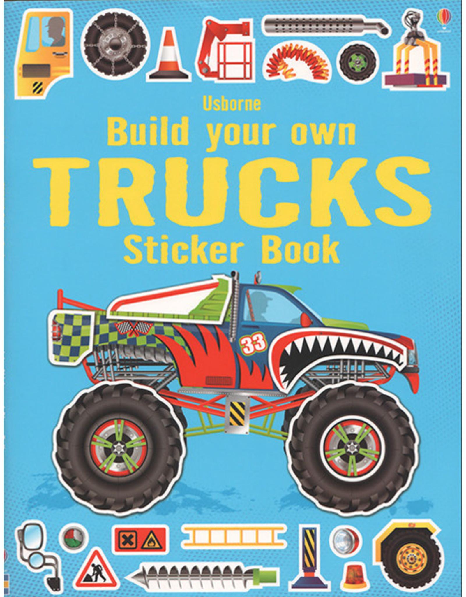 Usborne & Kane Miller Books Build Own Trucks Sticker Bk