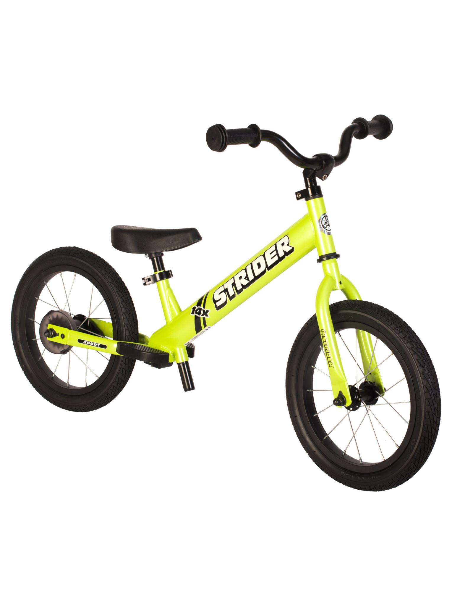 STRIDER Strider 14x Sport Balance Bike - Green 3-6 Years