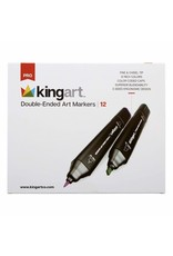 KINGART 12 PC Double Ended Art Markers