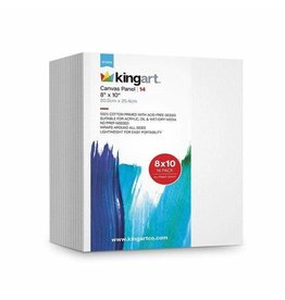 KINGART 14PC 8x10 Canvas Panel Boards