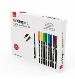 KINGART 24pc Dual Tip Brush Pens