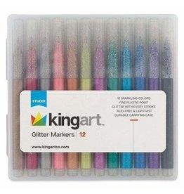 KINGART Glitter Markers|12