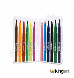 KINGART Watercolor Brush Markers|12