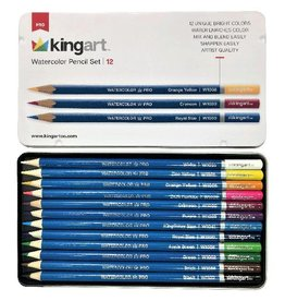 KINGART 12 PC COLORED PENCIL TIN