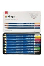 KINGART 12 PC WTR COL PENCIL TIN