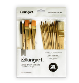 KINGART 25 PC MIXED MEDIA SET