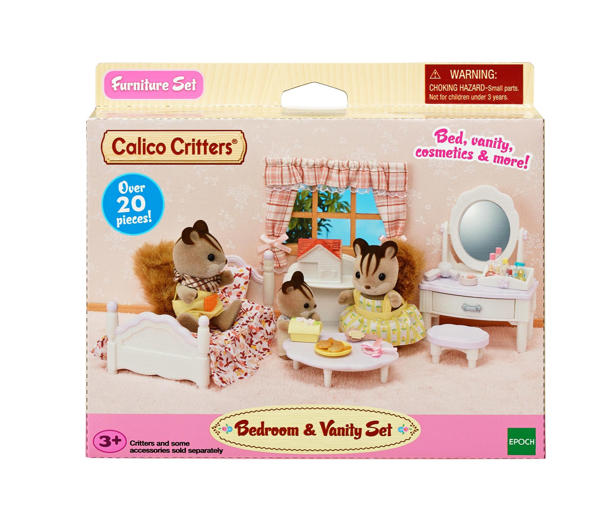 calico critters bedroom set  zen's toyland