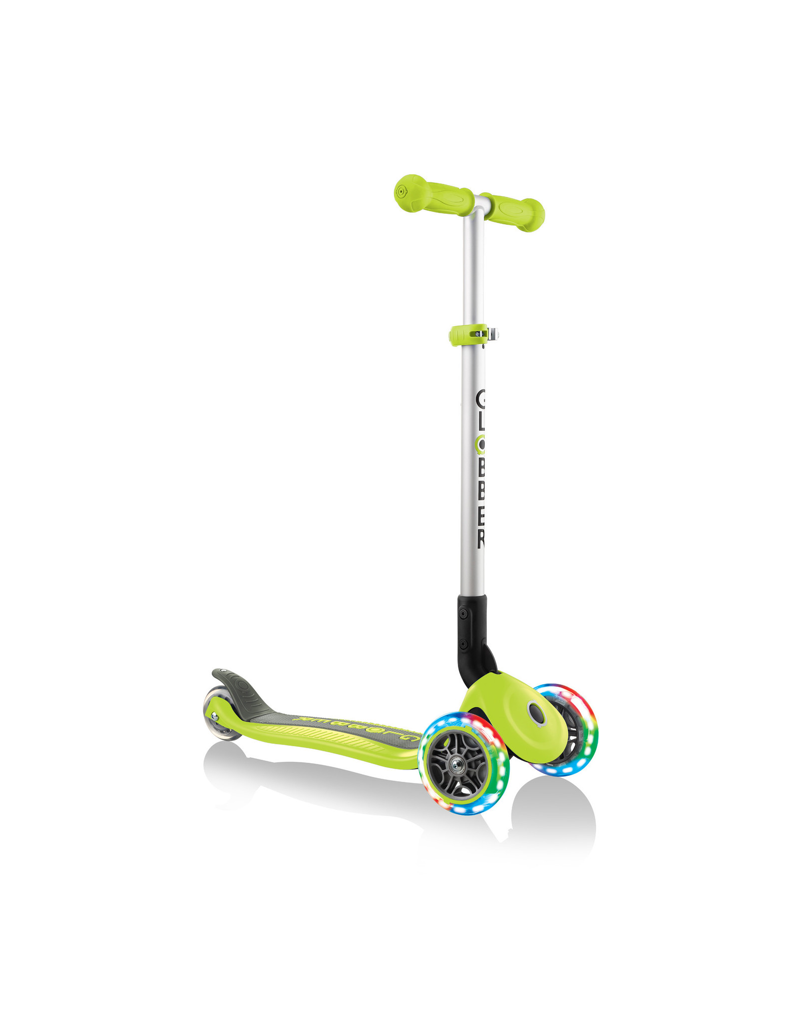 Globber Primo Foldable Lights Lime Green Ages 3-6