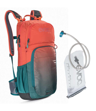 EVOC EVOC, CC 16 + 2L Bladder, Hydration Bag, Volume: 16L, Bladder included: 2L, Chili Red/Petrol