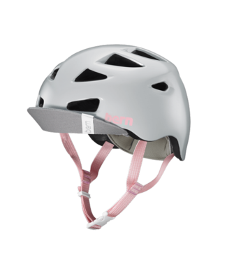 Bern Bern, Melrose Helmet, Satin Light Grey, M-L