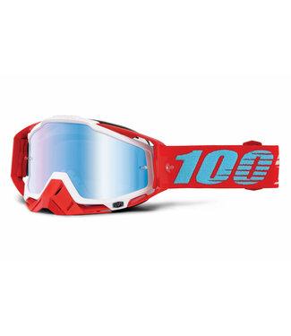 100% 100%, Racecraft Goggles, Kepler, Mirror Blue Lens