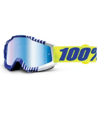 100% 100%, Accuri Goggles, Sundance, Mirror Blue Lens