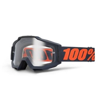 100% 100% Accuri Goggles Gunmetal, Clear Lens (Forever Line)