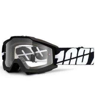 100% 100% Accuri Goggles Black Tornado, Clear Lens (Forever Line)