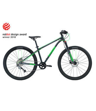 Frog Frog, MTB 72 Bike, Grey/Neon Green