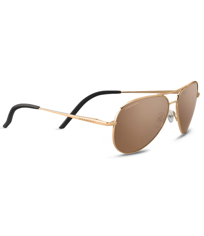 e592904e2e17 Serengeti, Carrara Small Gold Polar Drivers Gold 6 Base Sunglasses, 8551