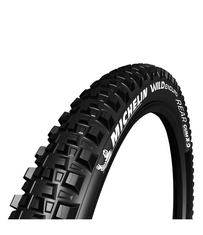 Michelin, Wild Enduro Rear, Tire, 29''x2.40, Folding, Tubeless Ready, GUM-X, GravityShield, 60TPI, Black
